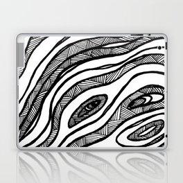 Organic Black & White lines Laptop & iPad Skin