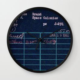 Library Card 797 Negative Wall Clock