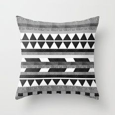 DG Aztec No.1 Monotone Throw Pillow