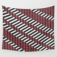 stripes Wall Tapestries featuring Stripes by MissCrocodile63