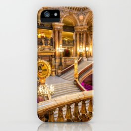 Grand staircase at the Palais Garnier in Paris, France. iPhone Case