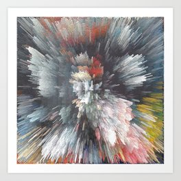 Abstract night Art Print