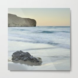 Caressed by the sea water Metal Print