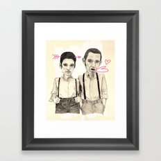 Meet the Valentines Framed Art Print