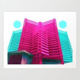 稜角大廈 /// HXGB Art Print