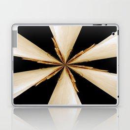 Black, White and Gold Star Laptop & iPad Skin