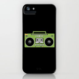 Retro Ghetto Blaster iPhone Case