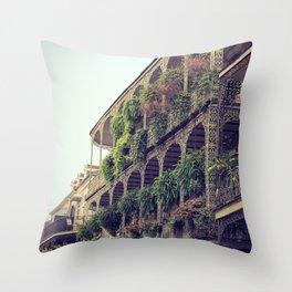 French Quarter Balconies - Royal Street Throw Pillow