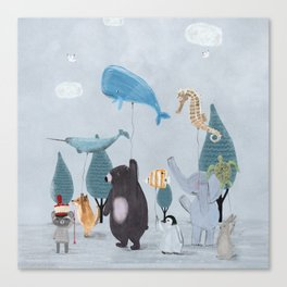 nature parade Canvas Print