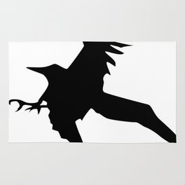Raven A Halloween Bird Of Prey  Rug