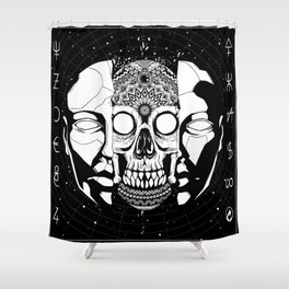 What hides beneath the mask Shower Curtain
