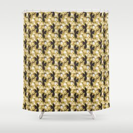 Birds & Bugs in Yellow Shower Curtain