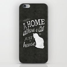 Home with Cat iPhone & iPod Skin