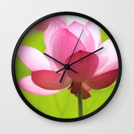 Pink Lotus Flower Wall Clock