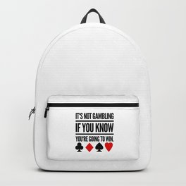 Poker Gambling Las Vegas Casino Backpack