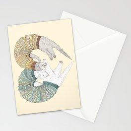 Ferret Sleep Love Stationery Cards