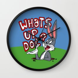 Whats Up Doc Wall Clock