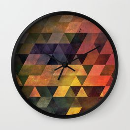Graphic // isometric grid // chyynxxys Wall Clock