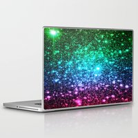 glitter Laptop & iPad Skins featuring glitter Cool Tone Ombre by 2sweet4words Designs