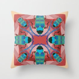 How a fish sees bugs Throw Pillow