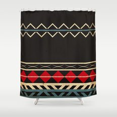 Aztec Dark Shower Curtain