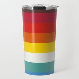 Multicolor Retro Stripes Trickster Travel Mug