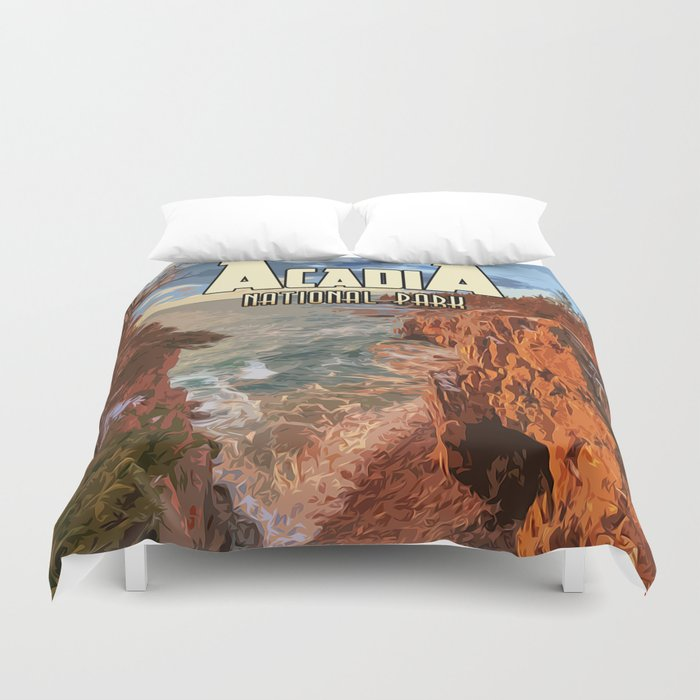 Acadia National Park at Maine Duvet Cover