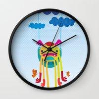 monster Wall Clocks featuring Monster by Maria Jose Da Luz