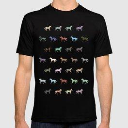 Colorful Horses Lantern Pattern  T-shirt