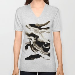 Black + White 3 Unisex V-Neck