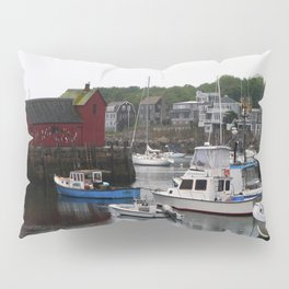 Rockport Inner Harbor With Lobster Fleet And Motif No.1 Pillow Sham