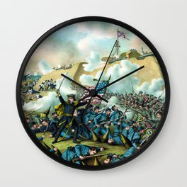 The Capture of Fort Fisher -- Civil War Wall Clock