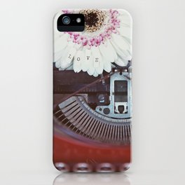 Message of Love Typewriter iPhone Case