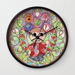 ACNL Villager Stained Glass  Wall Clock
