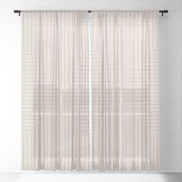 Angular Lines XVI Sheer Curtain