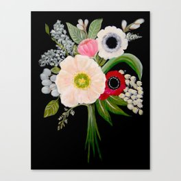Spring Bouquet on Slate Canvas Print