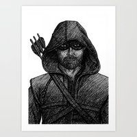 green arrow Art Prints featuring Arrow by Jack Kershaw