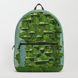 Italy Bosco Verticale Artistic Illustration Green Leaf Style Backpack