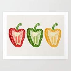 Mixed Peppers Art Print