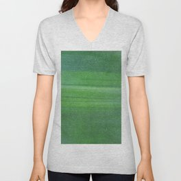 Abstract modern lime forest green stripes pattern Unisex V-Neck