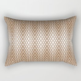 Cool Elegant Frosted Mocha Geometric Design Rectangular Pillow