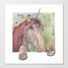 Happy Unicorn Canvas Print