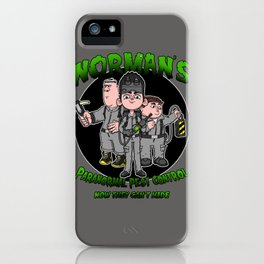 Norman's Paranormal Pest Control iPhone Case