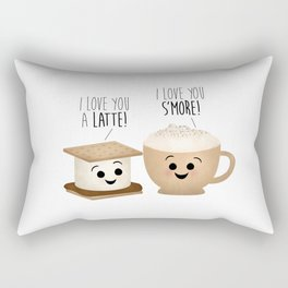 I Love You A Latte! I Love You S'more! Rectangular Pillow