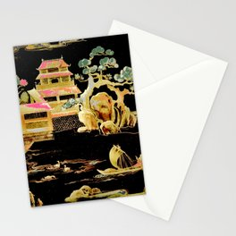 oriental pagodas Stationery Cards