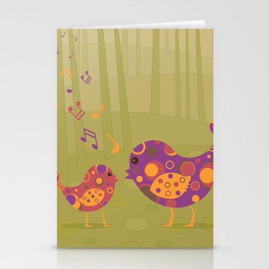 Bird Duet Stationery Cards