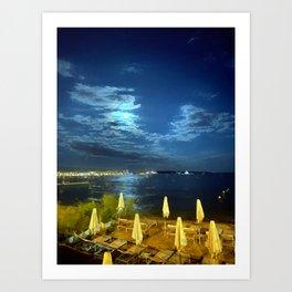 Silent Night in Monaco Art Print