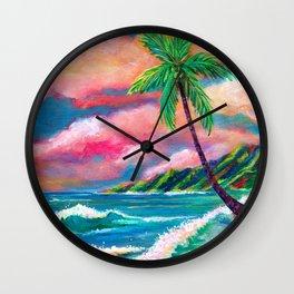 Tropical Na Pali Coast Wall Clock