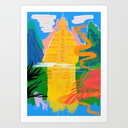 Bodh Gaya Art Print