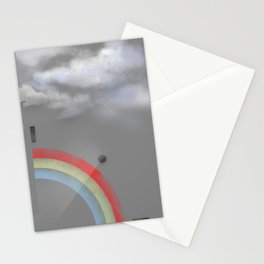 A quarter rainbow Stationery Cards